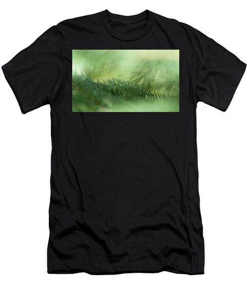 Men's T-Shirt (Slim Fit) featuring the photograph Evergreen Mist by Ann Lauwers