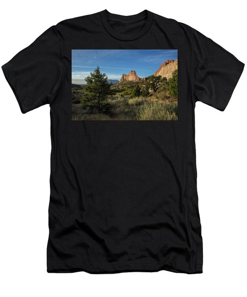 Evergreen Trees In The Garden Of The Gods Men's T-Shirt (Athletic Fit)