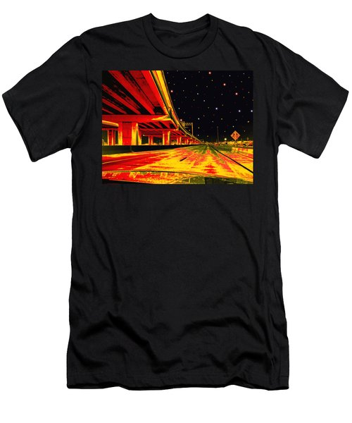Men's T-Shirt (Slim Fit) featuring the digital art Are We There Yet by Wendy J St Christopher