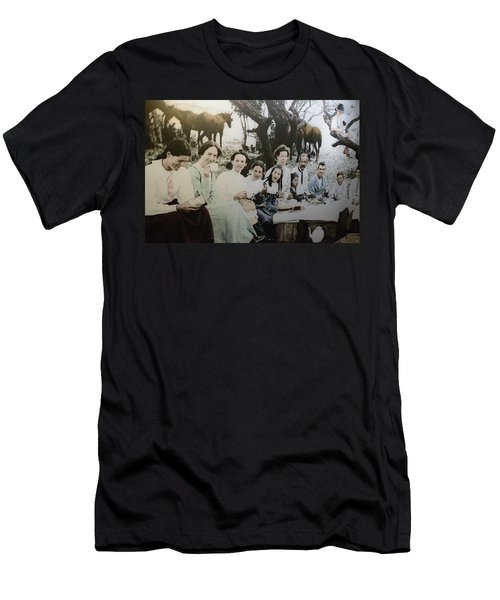 Men's T-Shirt (Athletic Fit) featuring the photograph Every Day Life In Nation In Making by Miroslava Jurcik
