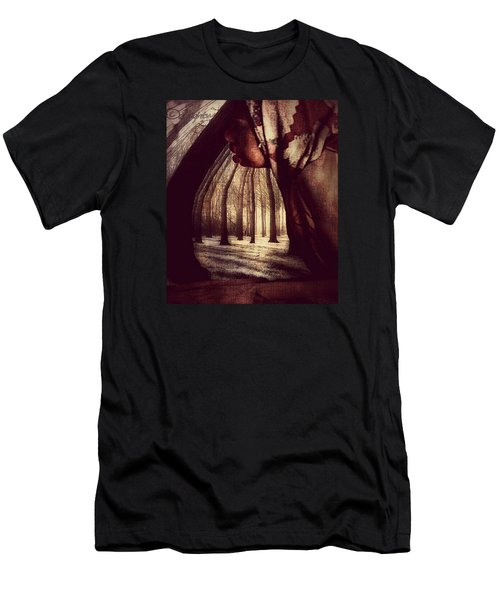 Men's T-Shirt (Athletic Fit) featuring the digital art Evie Regrets by Delight Worthyn