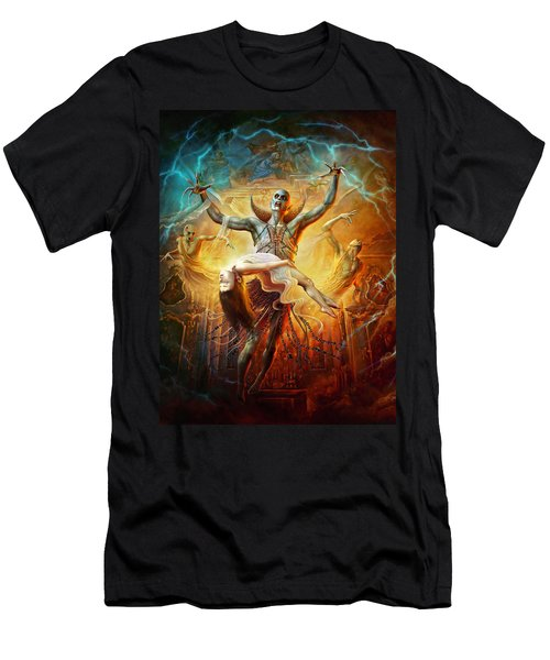 Men's T-Shirt (Athletic Fit) featuring the digital art Evil God by Uwe Jarling