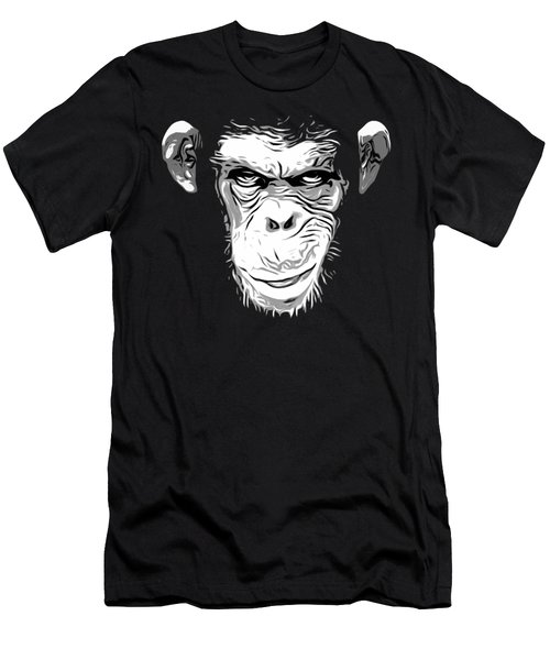 Evil Monkey Men's T-Shirt (Slim Fit) by Nicklas Gustafsson