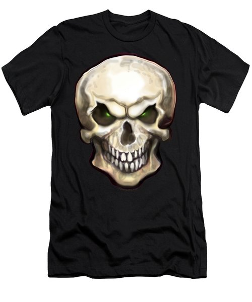 Evil Skull Men's T-Shirt (Athletic Fit)