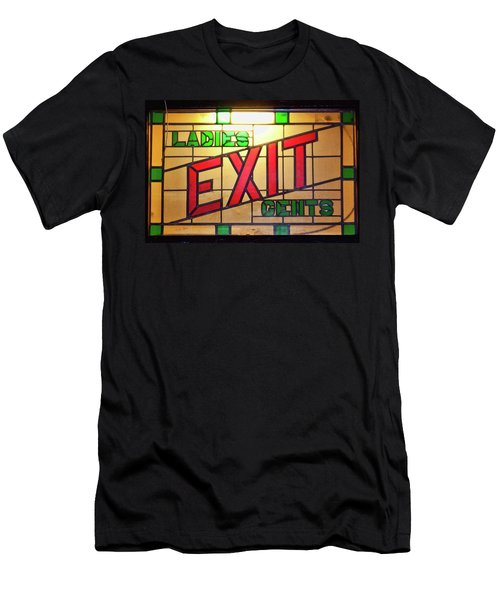 Exit - Ladies/gents Art Deco Sign Men's T-Shirt (Athletic Fit)