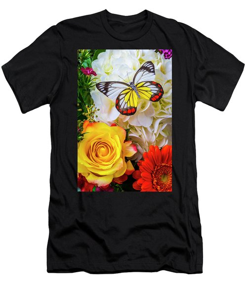 Exotic Beauty On Bouquet Men's T-Shirt (Athletic Fit)