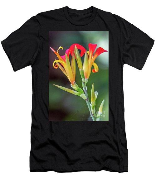 Exotic Flowers Men's T-Shirt (Athletic Fit)