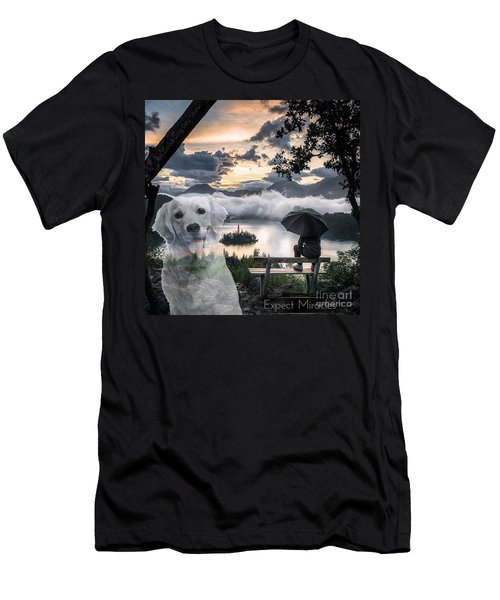 Men's T-Shirt (Athletic Fit) featuring the digital art Expect Miracles by Kathy Tarochione