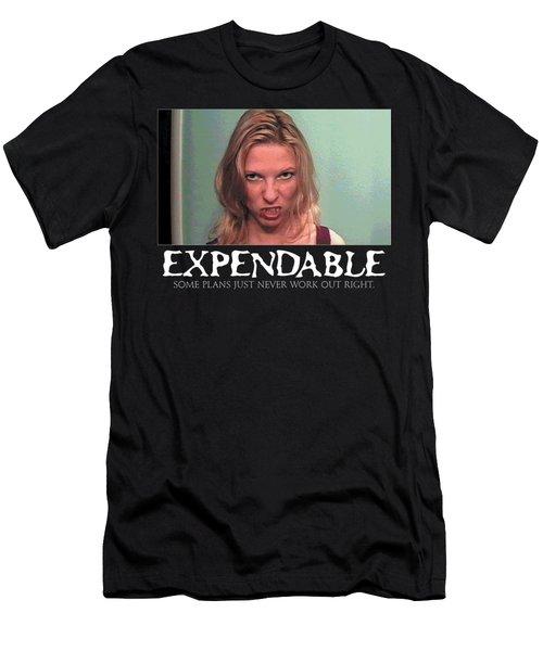 Expendable 10 - Black Men's T-Shirt (Slim Fit) by Mark Baranowski