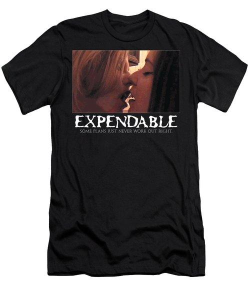 Expendable 11 - Black Men's T-Shirt (Slim Fit) by Mark Baranowski