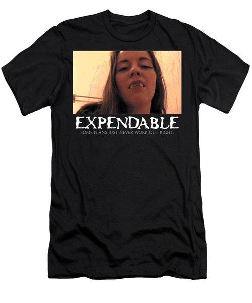 Expendable 13 - Black Men's T-Shirt (Slim Fit) by Mark Baranowski
