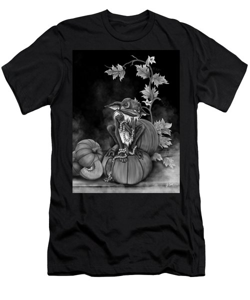 Men's T-Shirt (Athletic Fit) featuring the painting Explain Yourself - Black And White Fantasy Art by Raphael Lopez