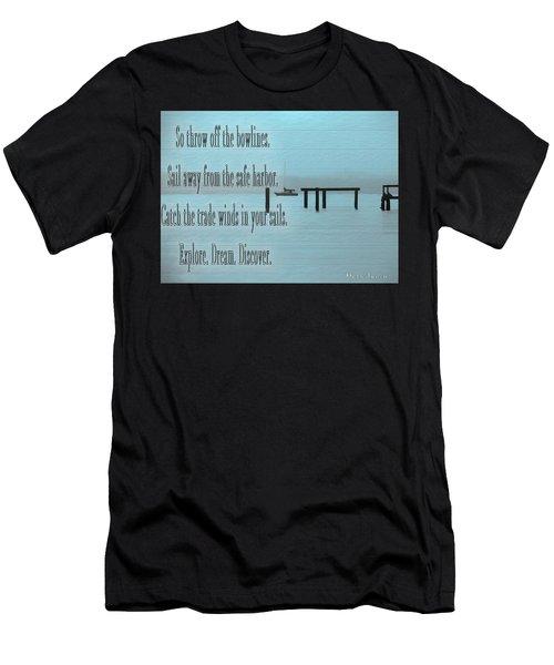 Explore Dream Discover Men's T-Shirt (Athletic Fit)