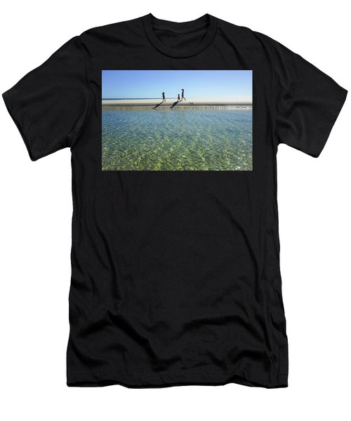 Exploring A Tidal Beach Lagoon Men's T-Shirt (Athletic Fit)