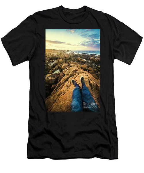 Exploring The Beaches Of Western Tasmania Men's T-Shirt (Athletic Fit)