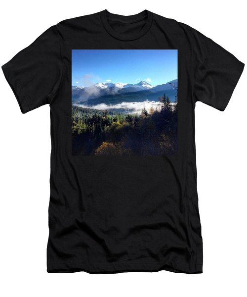 Exploring The Mountains Men's T-Shirt (Athletic Fit)