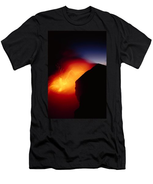 Explosion At Twilight Men's T-Shirt (Slim Fit) by William Waterfall - Printscapes