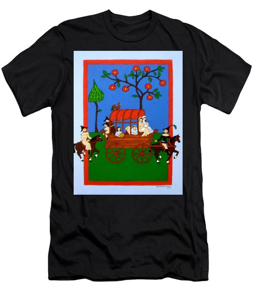 Men's T-Shirt (Slim Fit) featuring the painting Expulsion Of The Jews For M Spain by Stephanie Moore