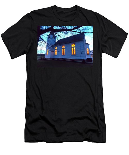 Exterior Church Evening Men's T-Shirt (Athletic Fit)