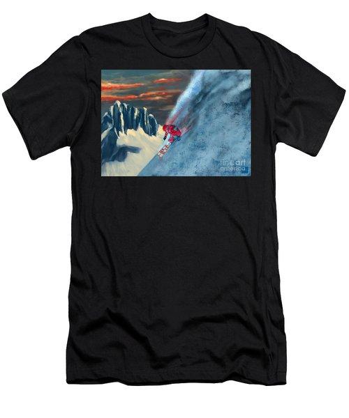 Extreme Ski Painting  Men's T-Shirt (Athletic Fit)