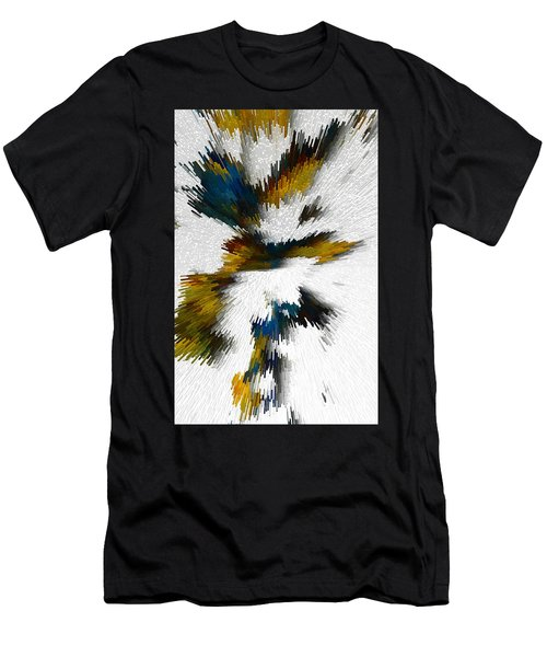 Men's T-Shirt (Athletic Fit) featuring the digital art Sculptural Series Digital Painting 612.102310extrusion by Kris Haas
