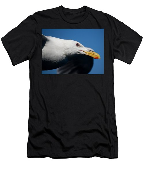 Men's T-Shirt (Slim Fit) featuring the photograph Eye Of A Seagull by Sumoflam Photography
