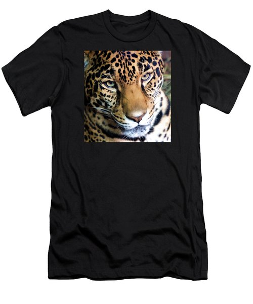 Eye Of The Leopard Men's T-Shirt (Slim Fit) by Athena Mckinzie