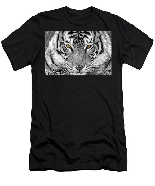 Men's T-Shirt (Athletic Fit) featuring the digital art Eye Of The Tiger by Ray Shiu