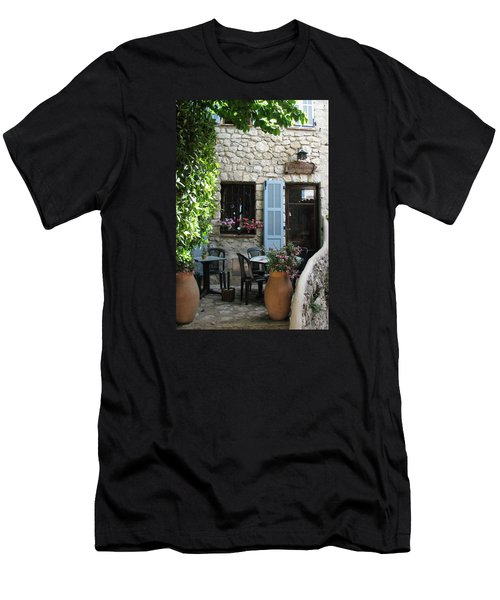 Eze Cobblestone Patio Men's T-Shirt (Slim Fit) by Carla Parris