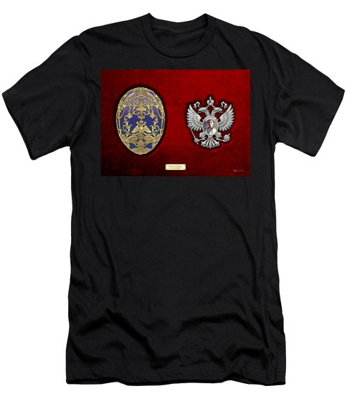 Faberge Tsarevich Egg With Surprise Men's T-Shirt (Slim Fit) by Serge Averbukh