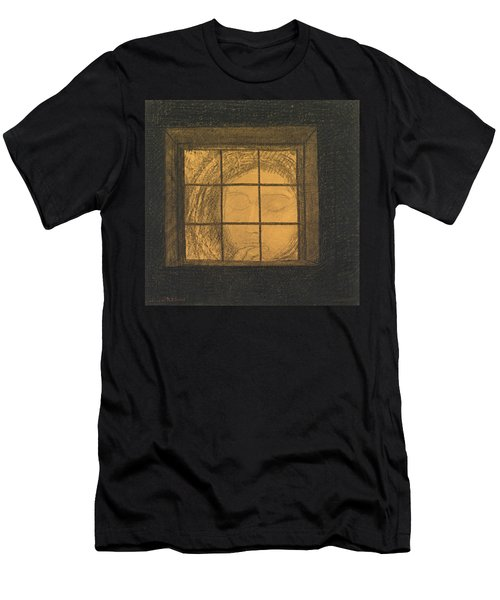 Face Behind A Window  Men's T-Shirt (Athletic Fit)
