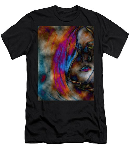 Face Of A Girl Men's T-Shirt (Athletic Fit)