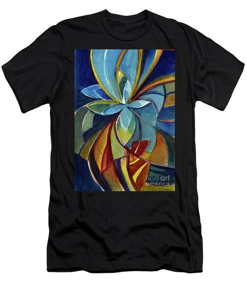 Fractal Flower Men's T-Shirt (Athletic Fit)