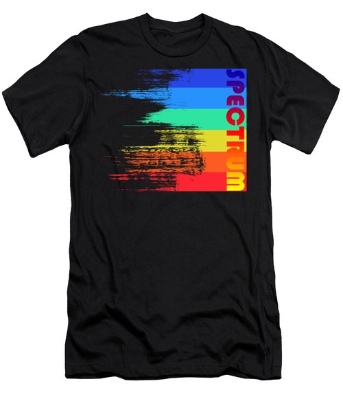 Faded Retro Pop Spectrum Colors Men's T-Shirt (Athletic Fit)