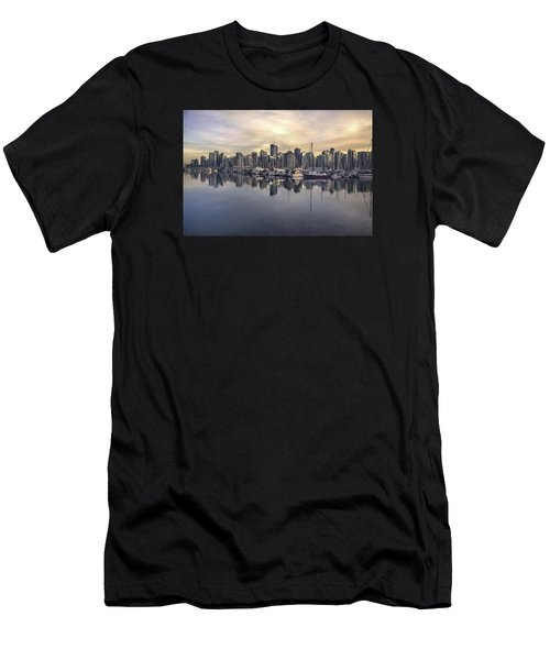 Fading Sun Over Downtown Vancouver Men's T-Shirt (Athletic Fit)