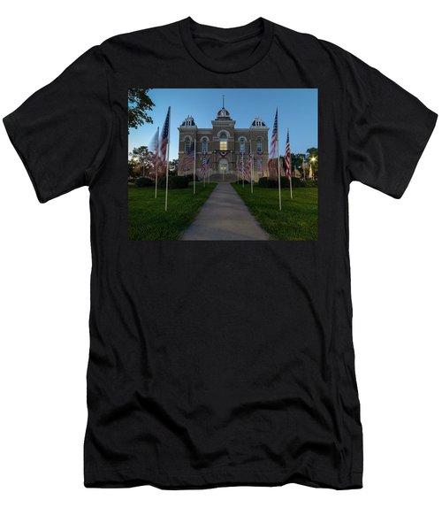 Fairbury Nebraska Avenue Of Flags - September 11 2016 Men's T-Shirt (Athletic Fit)