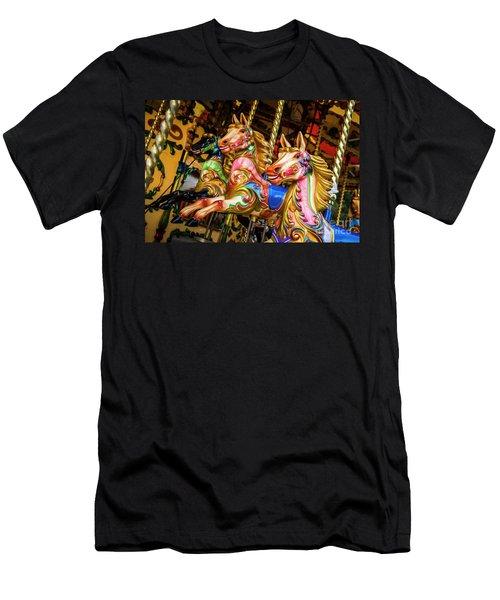 Fairground Carousel Horses Men's T-Shirt (Athletic Fit)
