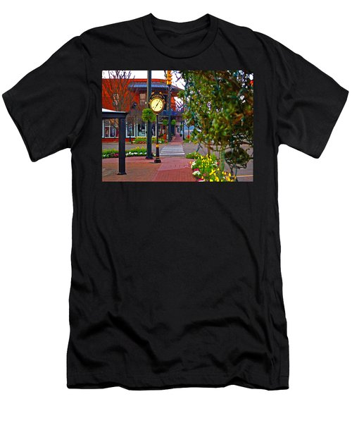 Fairhope Ave With Clock Down Section Street Men's T-Shirt (Athletic Fit)