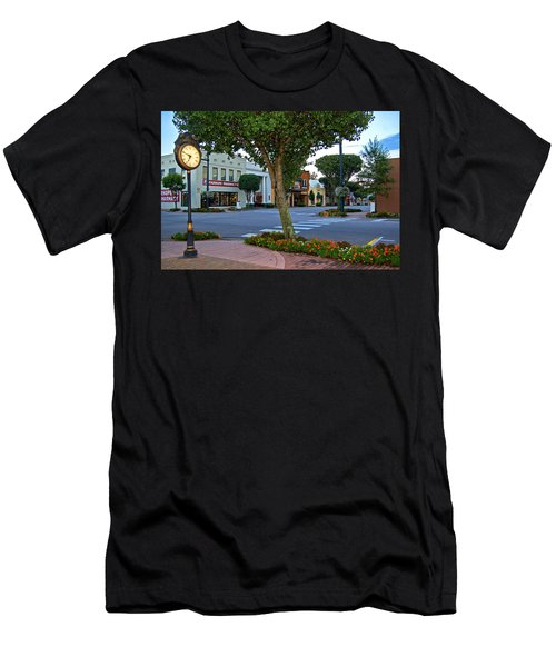 Fairhope Ave With Clock Men's T-Shirt (Athletic Fit)