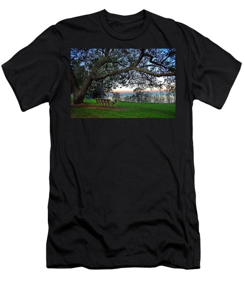 Fairhope Swing On The Bay Men's T-Shirt (Athletic Fit)