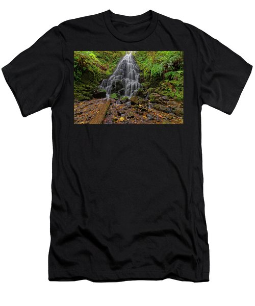 Fairy Falls Men's T-Shirt (Slim Fit) by Jonathan Davison