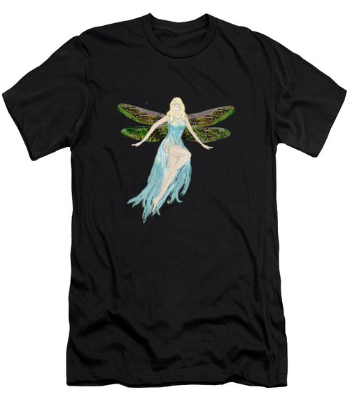 Fairy In The Blue Dress Men's T-Shirt (Slim Fit) by Tom Conway