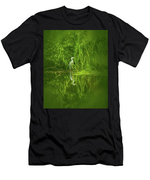 Fairy Tale Heron #g5 Men's T-Shirt (Athletic Fit)