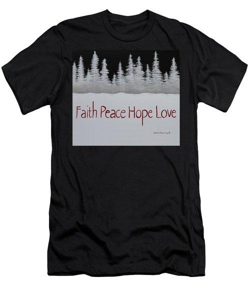 Faith, Peace, Hope, Love Men's T-Shirt (Athletic Fit)