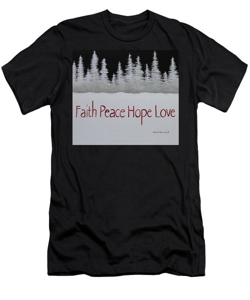 Faith, Peace, Hope, Love Men's T-Shirt (Athletic Fit)