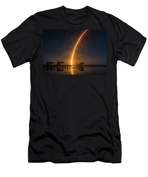 Falcon 9  Night Launch Men's T-Shirt (Athletic Fit)