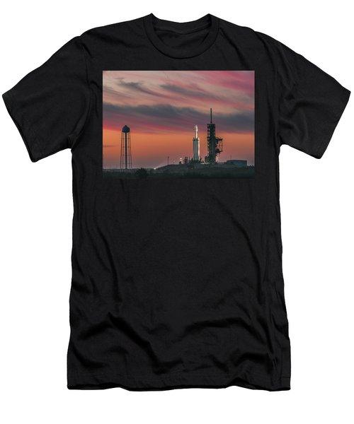 Falcon Heavy Epic Sky Men's T-Shirt (Athletic Fit)