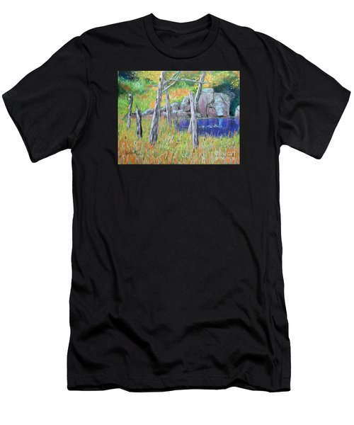 Fall  Along The Highwy  Men's T-Shirt (Athletic Fit)