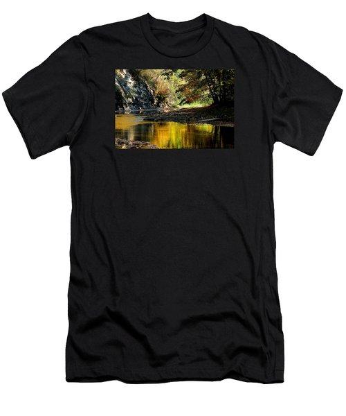 Fall At Big Creek Men's T-Shirt (Athletic Fit)