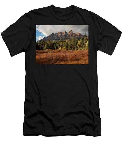 Fall At Castle Mountain Men's T-Shirt (Athletic Fit)